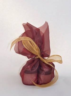 SACK 'O SOAK-4 IN BURGUNDY ORGANZA